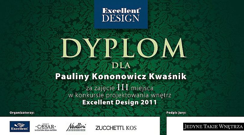 3 miejsce Konkurs - Dyplom, Paulina Kononowicz-Kwaśnik - Architekt wnętrz Gdańsk, Trójmiasto