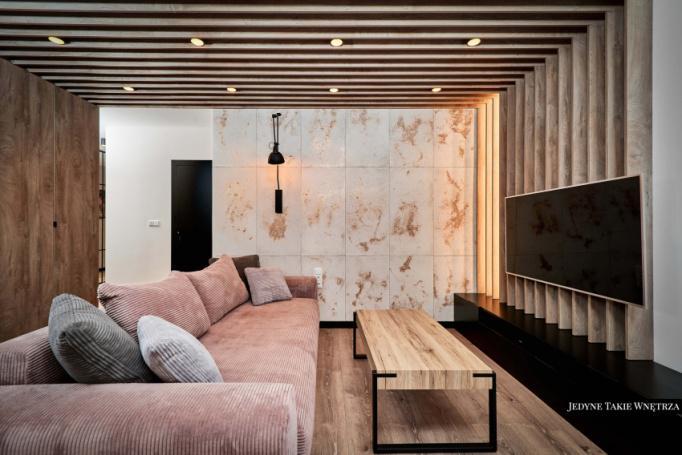 loft róż w projekcie apartamentu wrocław