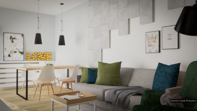 skandynawska aranżacja mieszkania w Gdańsku