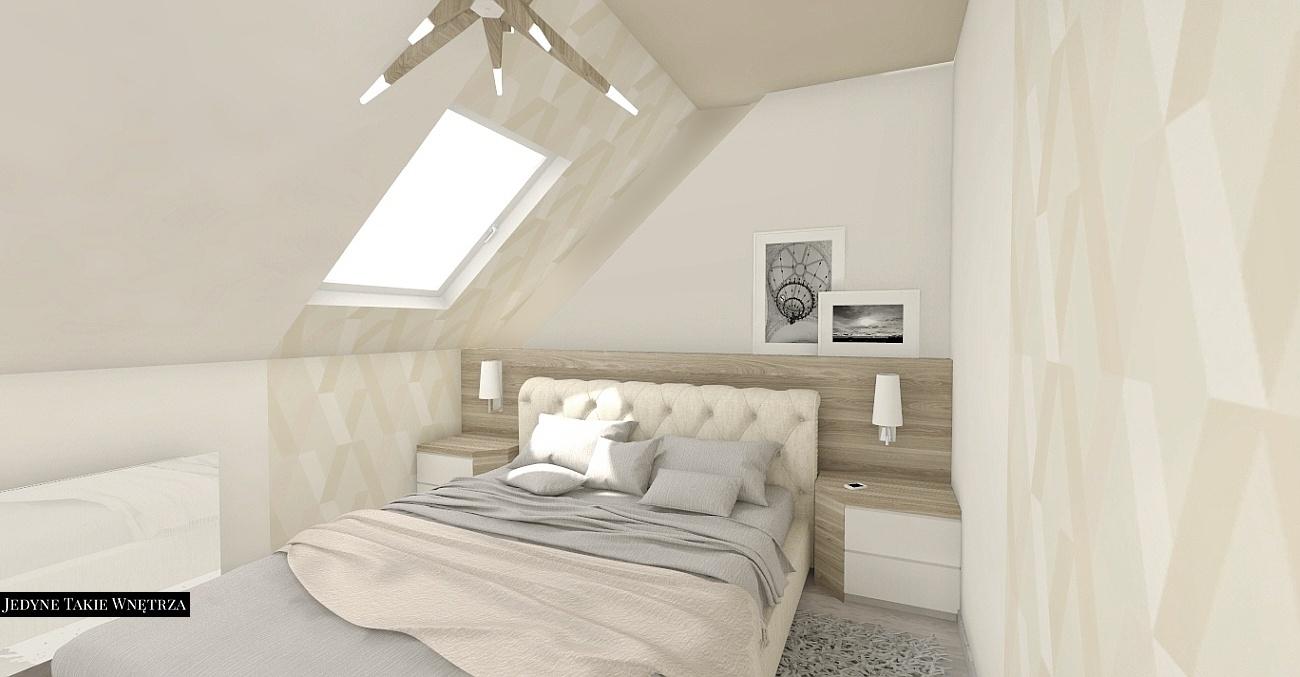 Projekty i aranżacje sypialni - JedyneTakieWnętrza