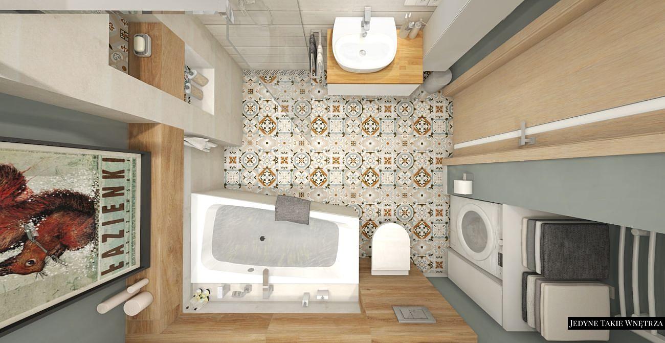 projekty łazienek z prysznicem