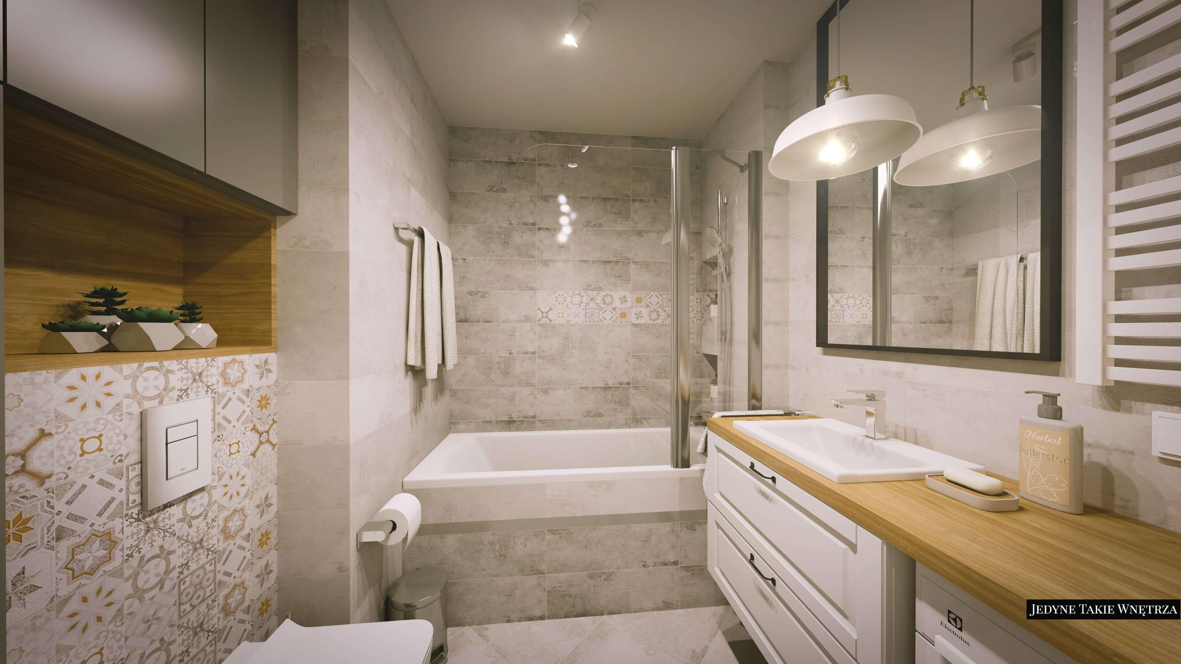 łazienka W Stylu Skandynawskim Kraków Projekt