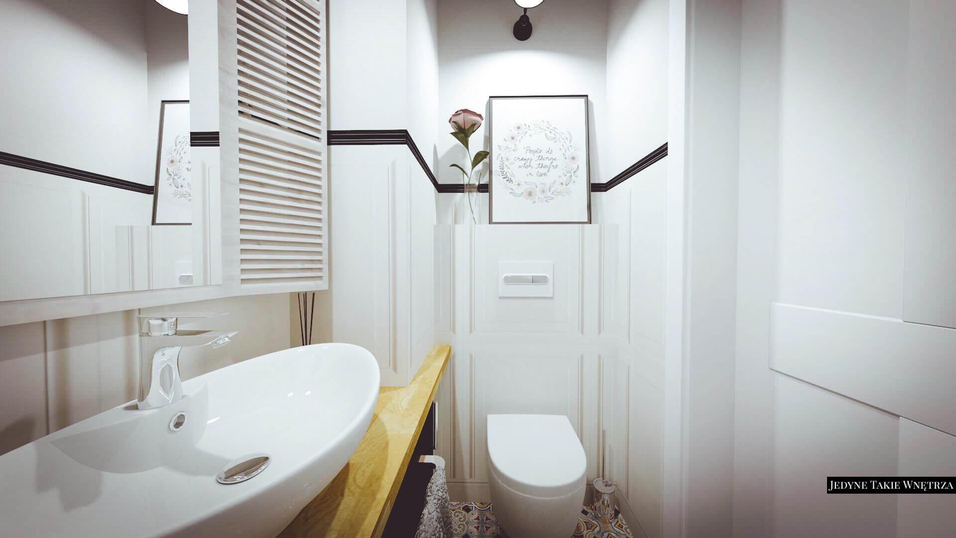 Aranzacja Toalety W Bieli I Czerni Z Plytkami Multicolor Vives